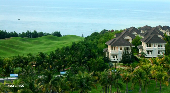 Sea Links Beach Villas Phan Thiet has luxurious architecture linked to the beauty of nature - Photo: Sea Links City