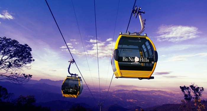 The four-Guinness-World-record cable car becomes the image of Ba Na Hills in particular and the pride of Da Nang tourism in general - Photo: Internet