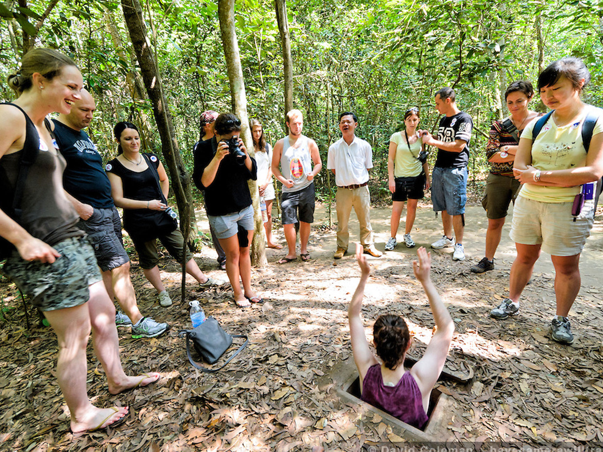 Tourists visit Cu Chi tunnels, Ho Chi Minh City - Photo: Internet
