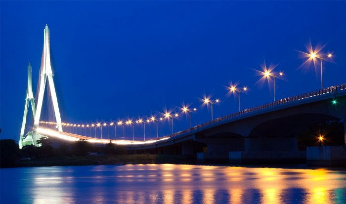 Can Tho Bridge, Can Tho City is the longest main span bridge in Southeast Asia - Photo: Internet