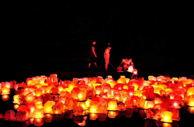 Lanterns to guide the paths of the spirits in China