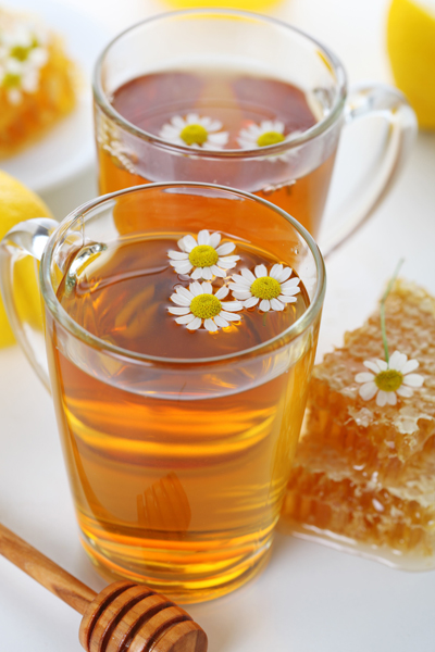 Honey chamomile herbal tea