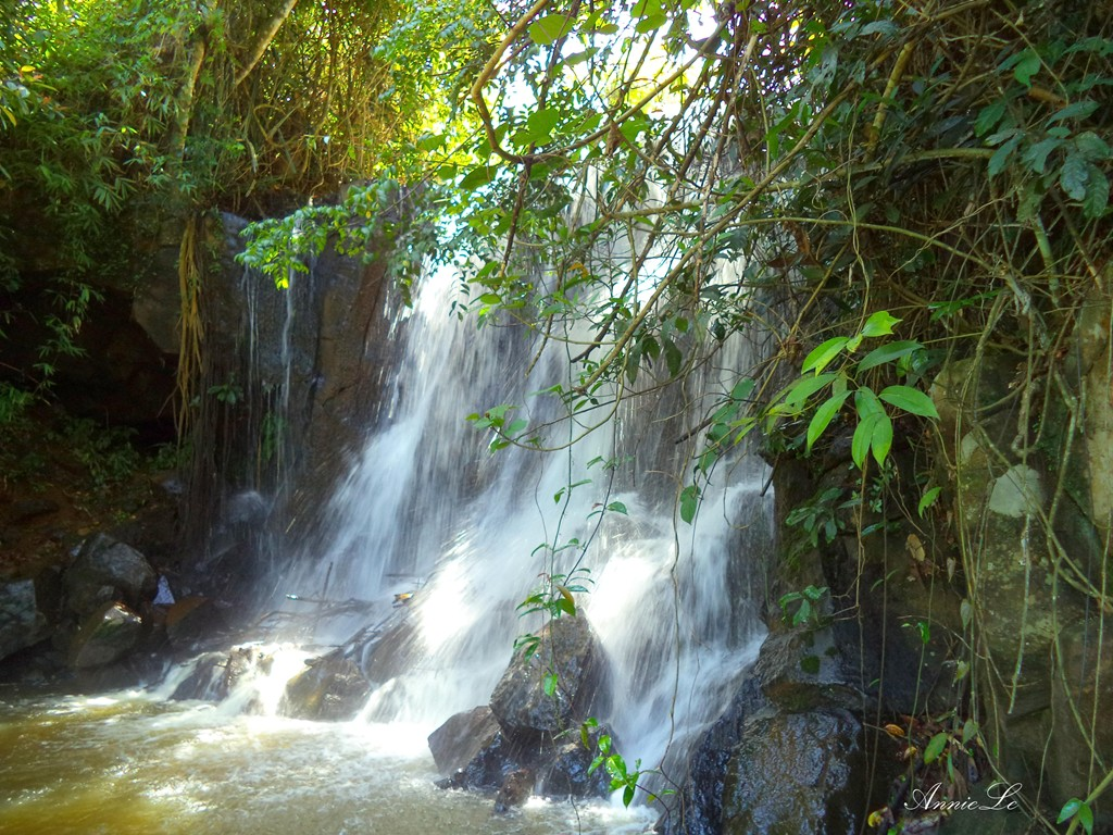 The monks choose this small waterfall as a place to meditate