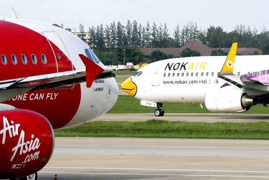 Two commonly used low-cost carrier in Asia