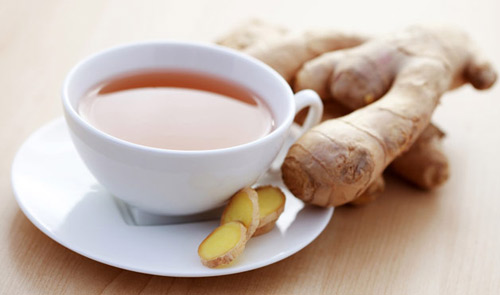 Drink ginger tea is one of the effective remedies to prevent bad colds, sore throats and gastrointestinal diseases