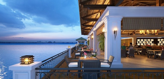 Luxury 5 star resort with the romantic natural landscape