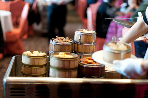 Diners can choose Dimsum directly at their table - Photo: dembowski