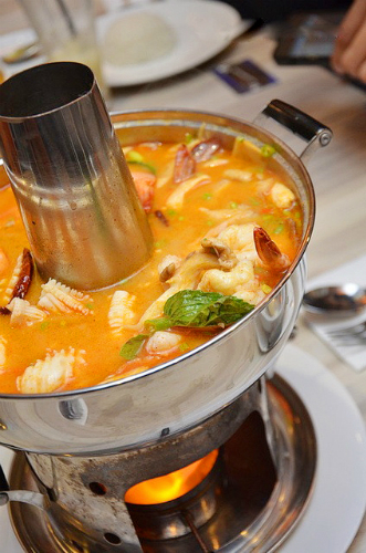 Thai hot pot is very attractive for spicy lovers