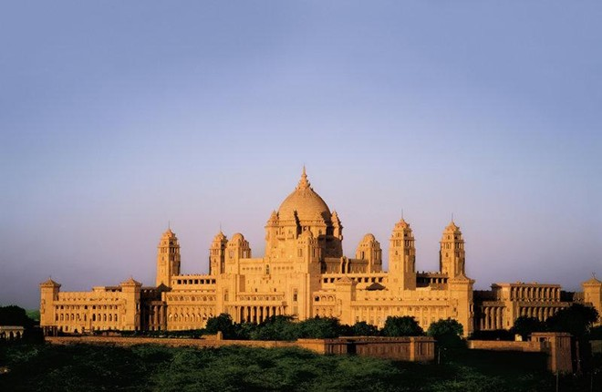 The magnificent Umaid Bhawan Palace in Jodhpur is one of the world's largest private residences