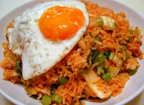 A special fried rice recipe of Indonesian