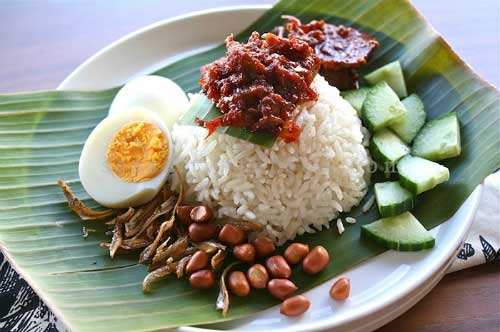 Nasi Lemak will be perfect little spicy sauce