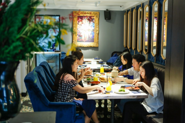 This European style restaurant is located on the ground floor of Garden Trade Center Saigon on Nguyen Hue walking street