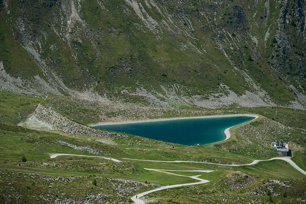 Also at Goldried, High Tauern national park, Austria, there is a self-forming perfect heart shaped lake.