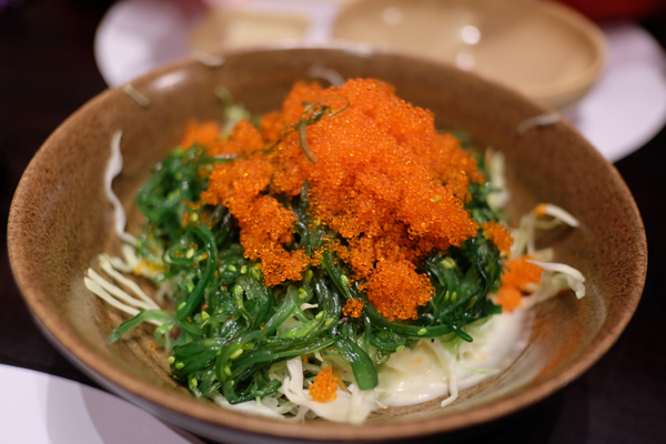 Salad with tasty fish roe on top