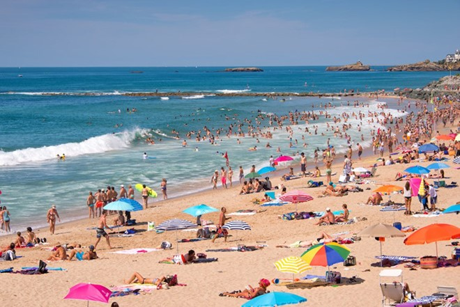 Biarritz, France: Always a favorite destination for domestic and international tourists in the summer with peaceful scenery, pleasant climate, many recreational activities such as fishing, boating, windsurfing and additional 2 casinos nearby.