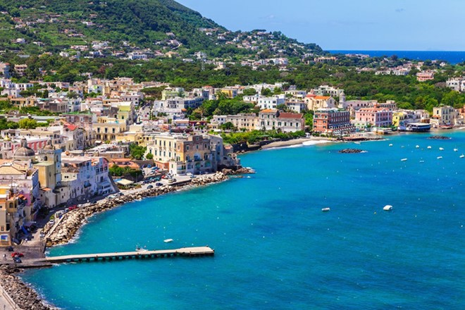 Ischia, Italy: is one of the few beautiful beaches in Italy but not so bustling many tourists.
