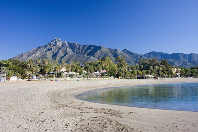 Marbella, Spain: is a stuning beach resort area on southern Spain Costa del Sol with white sand and filled with luxury yachts, and surrounded by upmarket boutiques and bars.
