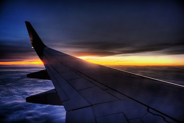For a perfect shoot, you should get in as close as you can to the airplane window without touching it