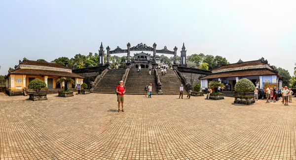 An external panoramic of Khai Dinh Tomb - Photo: Nguyen Dinh Thanh