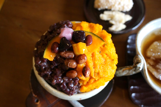 The nutritious pumpkin bingsu