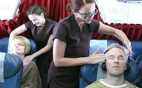 Free massages to economy passengers