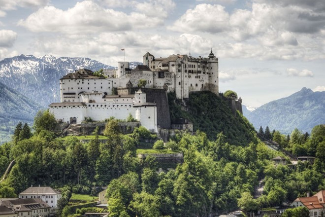 Hohensalzburg Castle in Austria is also considered as one on the mountain fortress and was built in 1077.