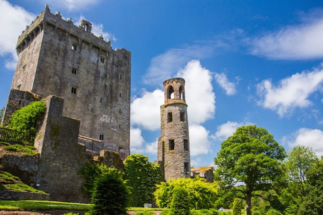 The Blarney Stone Castle in Ireland is with almost 90 feet in height.