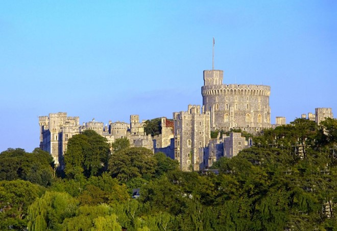 Windsor Castle in England was built in 1121. It has a long association with the English and later British royal family.
