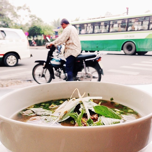 She once arrived in HCM City last year and enjoyed an attractive beef noodle - or named as Pho in Vietnamese.