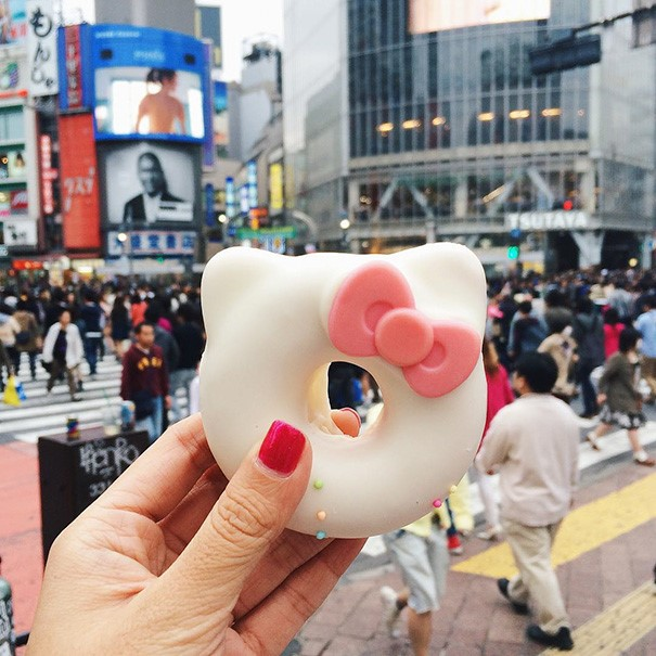 The famous Hello Kitty donut
